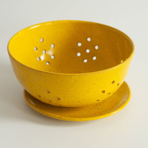 RPK Yellow Berry Bowl with Saucer, Large