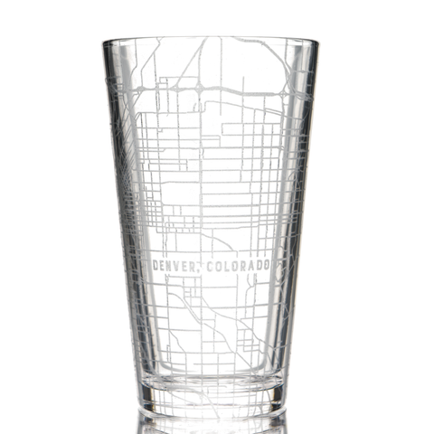 Custom Map Pint Glass, Set of 2