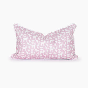 Down By The Bay Blush Lumbar Pillow