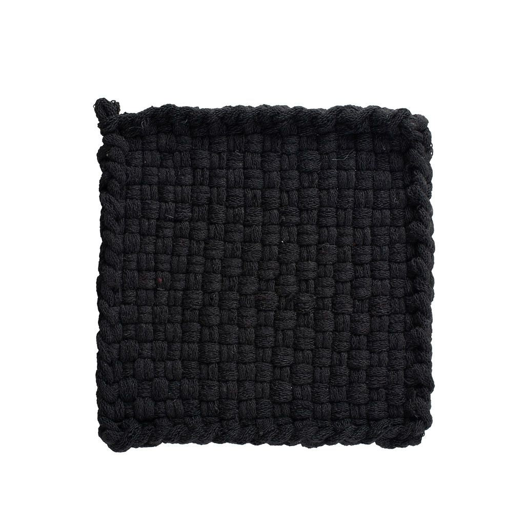 EARTH Black Handwoven Potholder