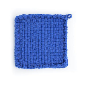 EARTH Blue Handwoven Potholder