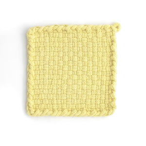 EARTH Yellow Handwoven Potholder