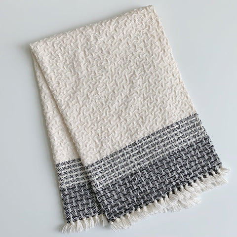 Black Border Stripes Hand Towel