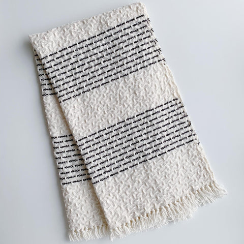 Black Stripes Hand Towel