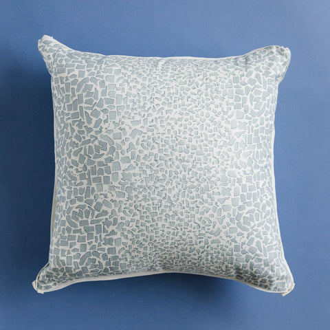Fifty State Leopard Powder Blue Square Pillow