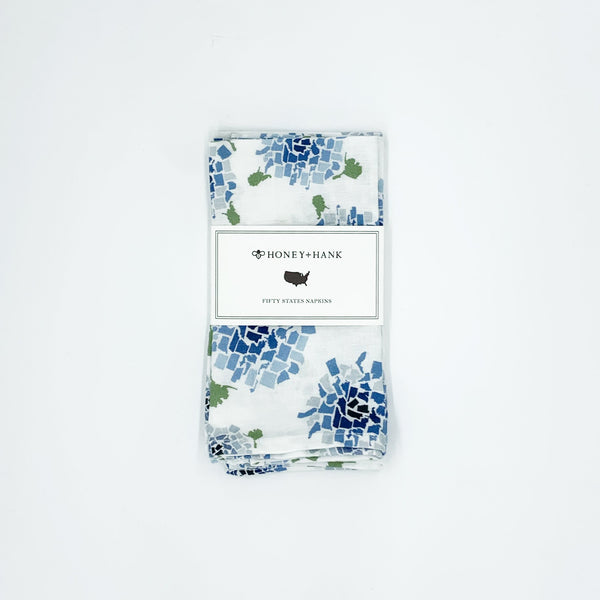 Fifty State Hydrangea Napkins, Set of 4
