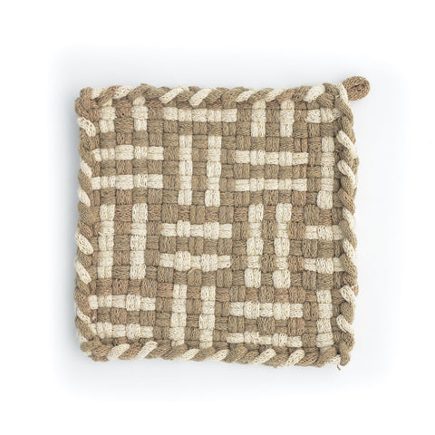 FOREST Autumn & Flax Handwoven Potholder