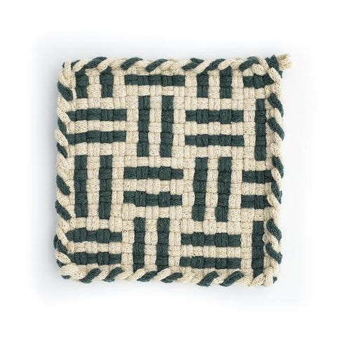 FOREST Flax & Pine Handwoven Potholder