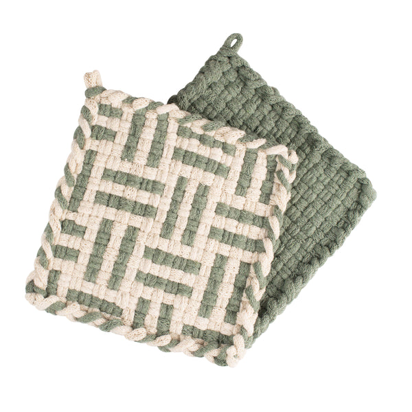 FOREST Flax & Willow Handwoven Potholder