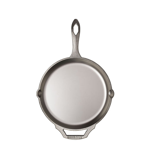 "10"" Cast Iron Skillet, Nickel Plated"