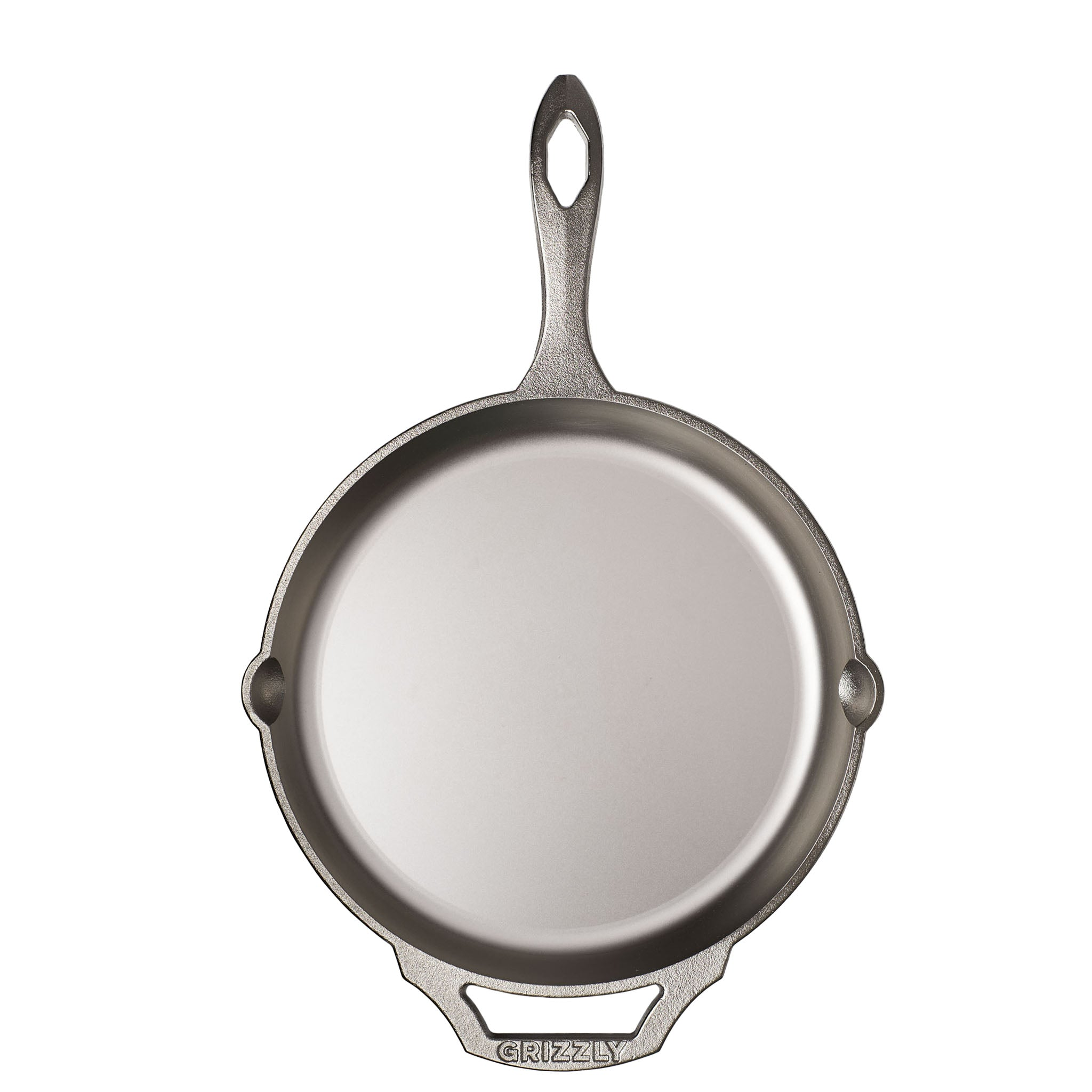 "12"" Cast Iron Skillet, Nickel Plated"
