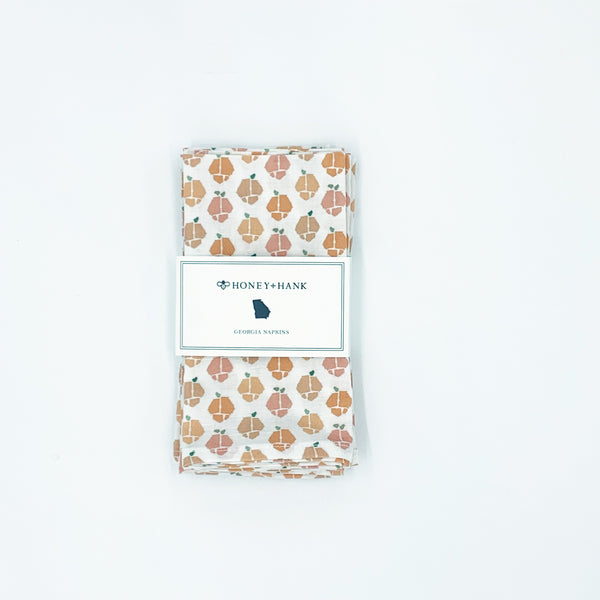 Georgia Peaches Napkins, Set of 4