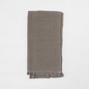 KD Weave Gray Hand Towel, Set of 2