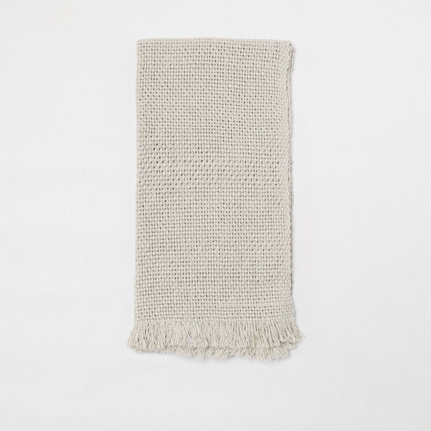 KD Weave Greige Hand Towel, Set of 2