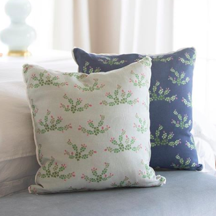 Texas Prickly Pear Square Pillow