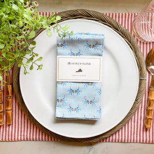 Virginia Blue Crab Napkins, Set of 4