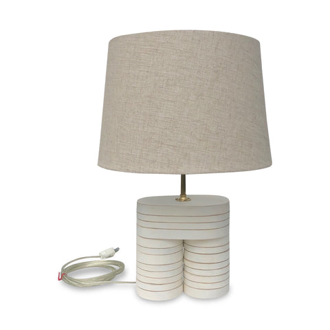 Little Button Table Lamp, White