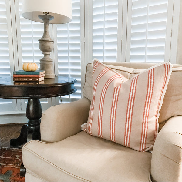 Texas Wide Woven Stripe Square Pillow