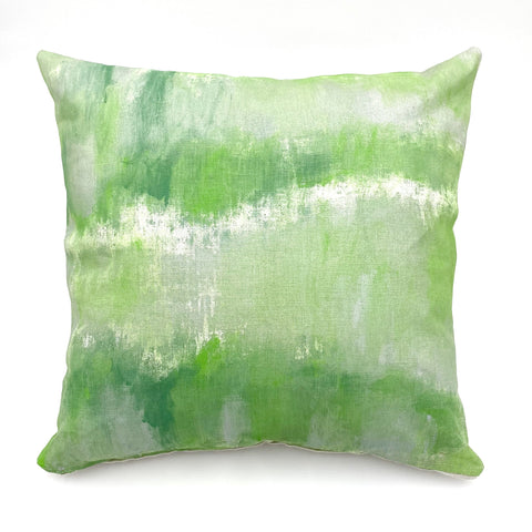 Sage Mist Hand-Painted Pillow