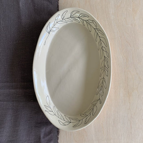 Olive Branch Serving Dish