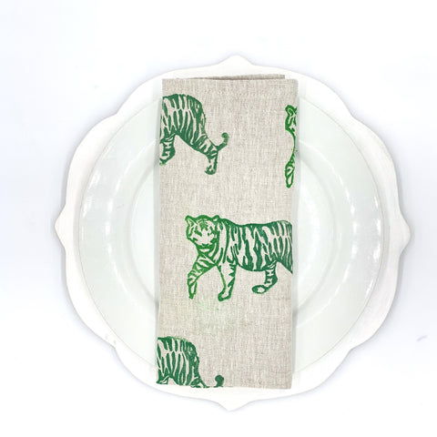 Tiger Ombré Linen Napkins, Set of 4