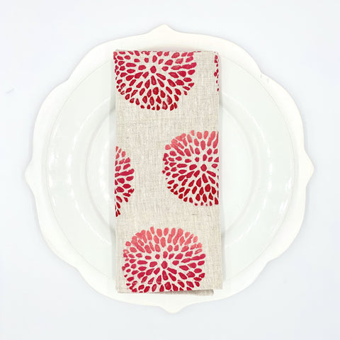Pom Pom Ombré Linen Napkins, Set of 4