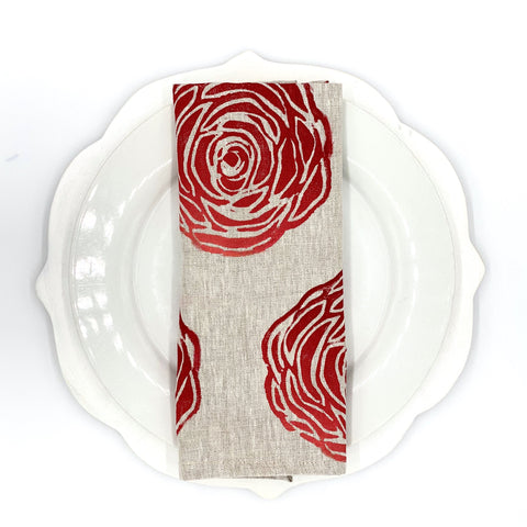 Rose Ombré Linen Napkins, Set of 4