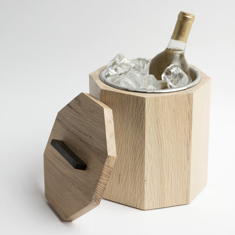 Solid White Oak Wood Ice Bucket