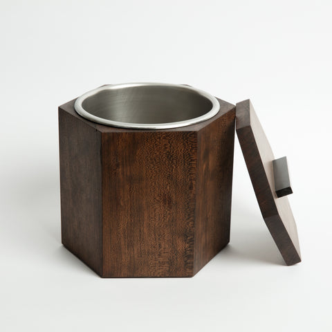 Solid Cherry Wood Ice Bucket