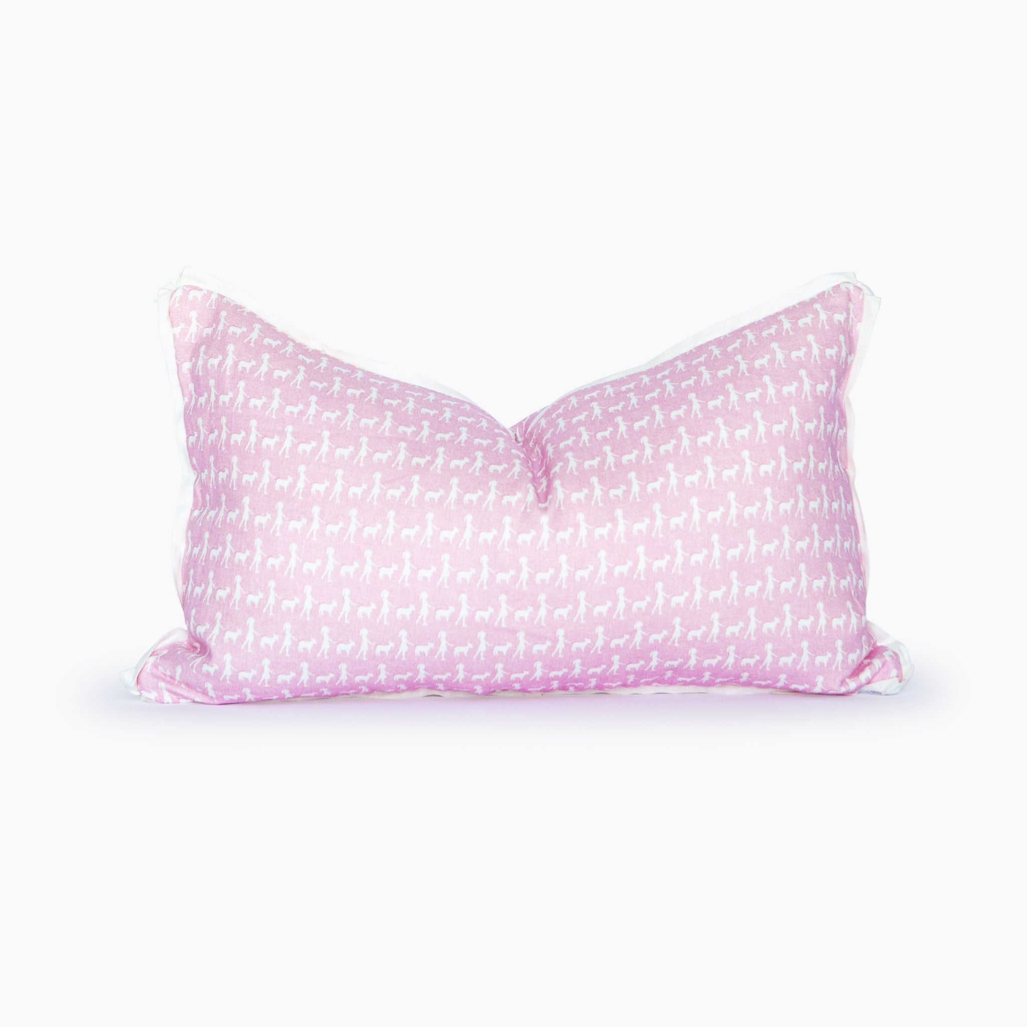 Mary Had A Little Lamb Blush Lumbar Pillow