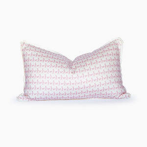 Mary Had A Little Lamb White + Blush Lumbar Pillow