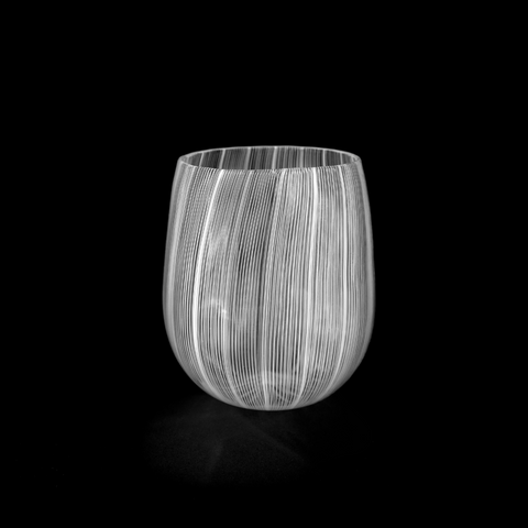 Moire Laceware Stemless Wine Glass