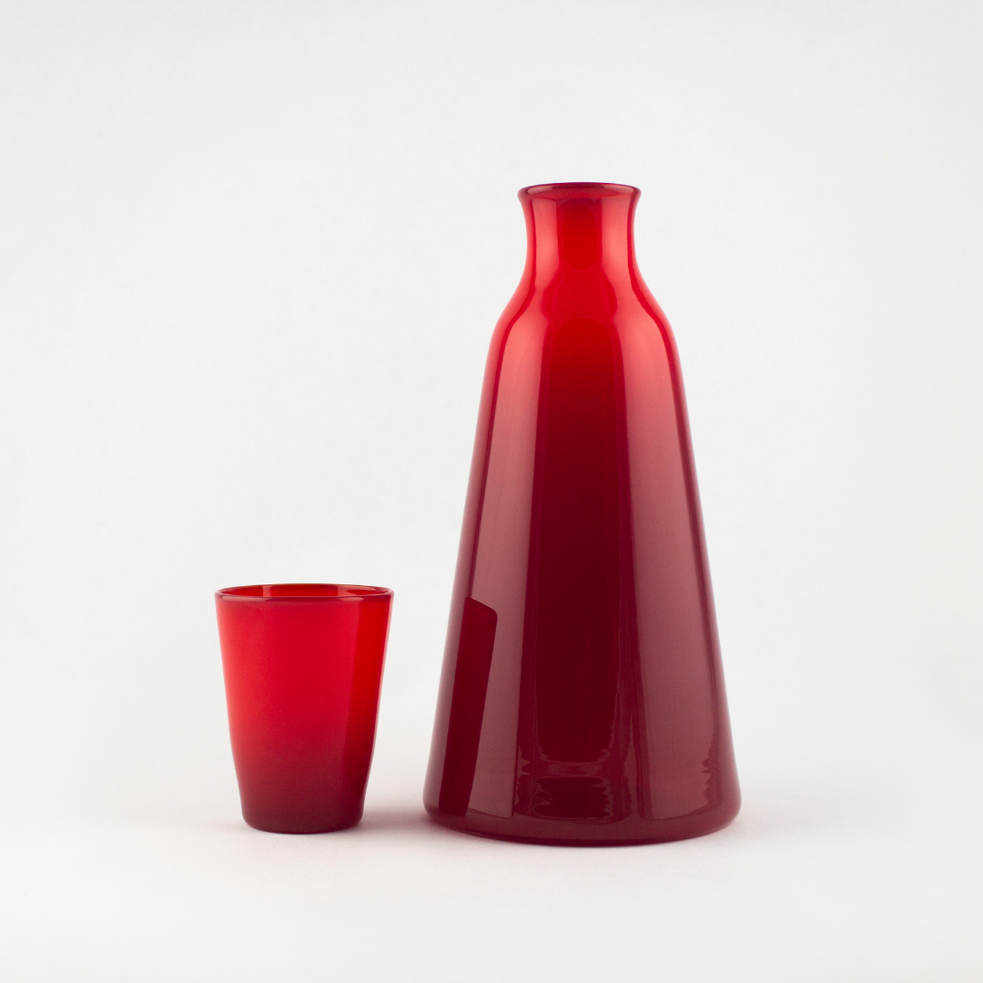 Monarch Red Bedside Carafe + Cup