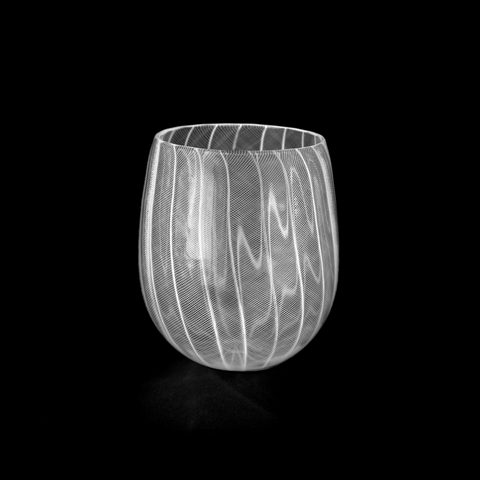 Zanfirico Laceware Stemless Wine Glass