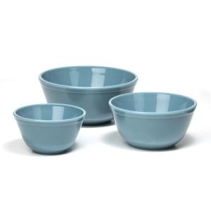 Georgia Blue Mixing Bowls, Set of 3