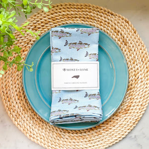 North Carolina Trout Napkins, Set of 4