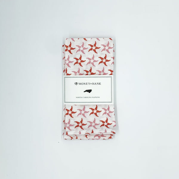 North Carolina Starfish Napkins, Set of 4