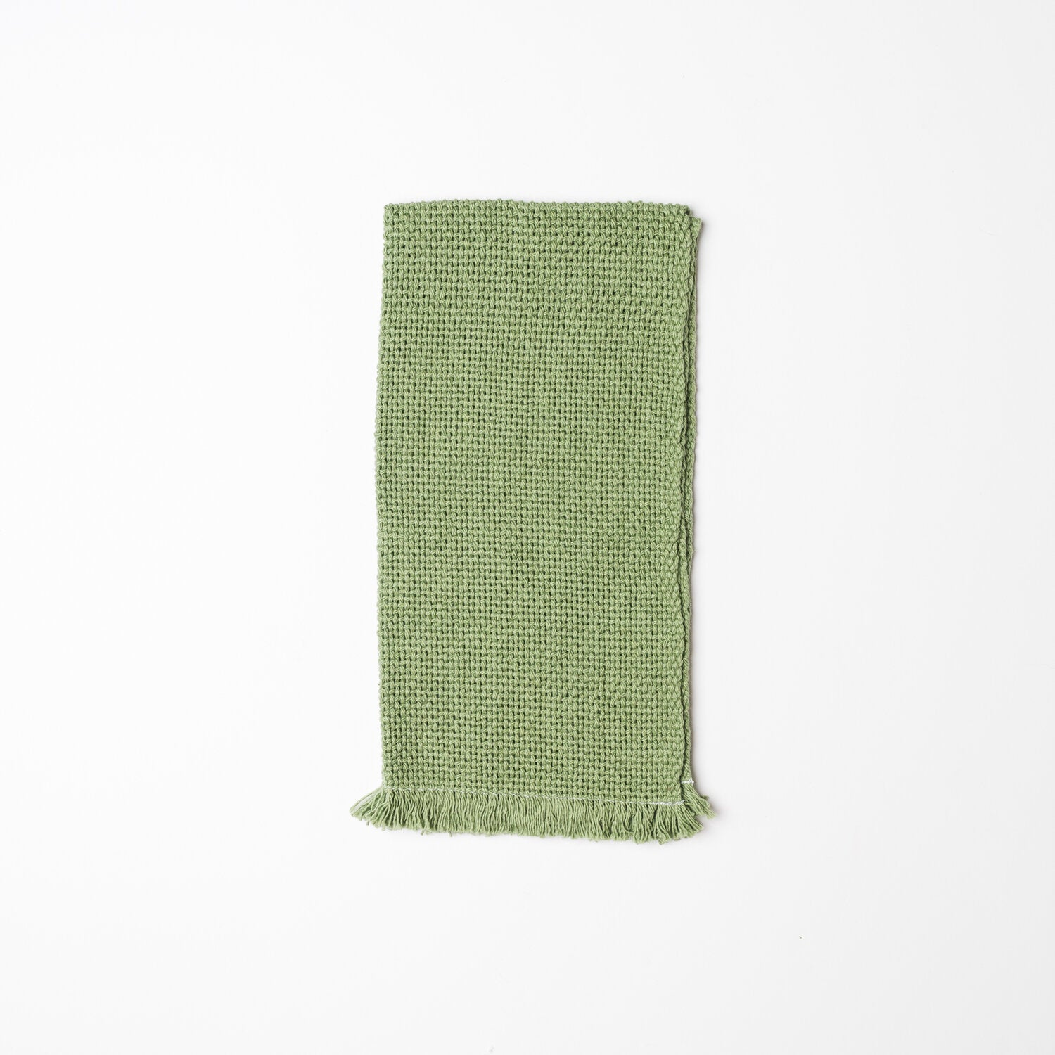 KD Weave Green Hand Towel, Set of 2