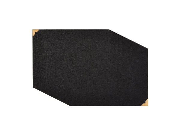 Rubber with Brass Corners Placemat