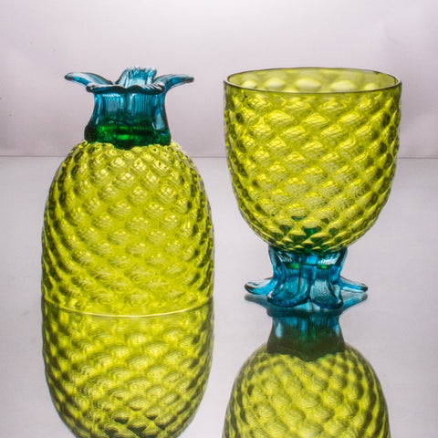 Lime Pineapple Goblet, Set of 2