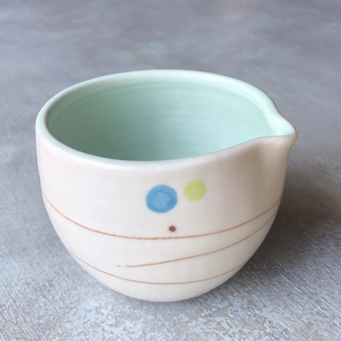 Playful Dots Blue & Green Sugar Pot & Creamer Set, Inner Green