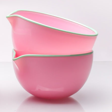 Pink Spouted Glass Pouring Bowl, Small