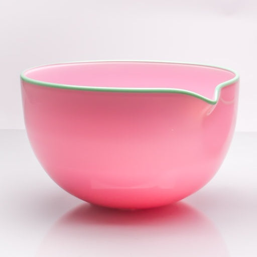 Pink Spouted Glass Pouring Bowl, Large