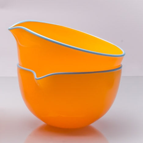 Marigold Spouted Glass Pouring Bowl, Small