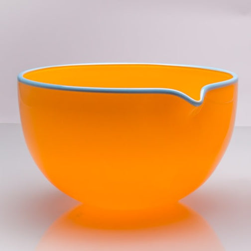 Marigold Spouted Glass Pouring Bowl, Large