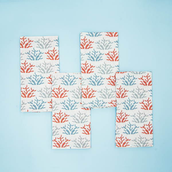 California Coral Napkins, Set of 4