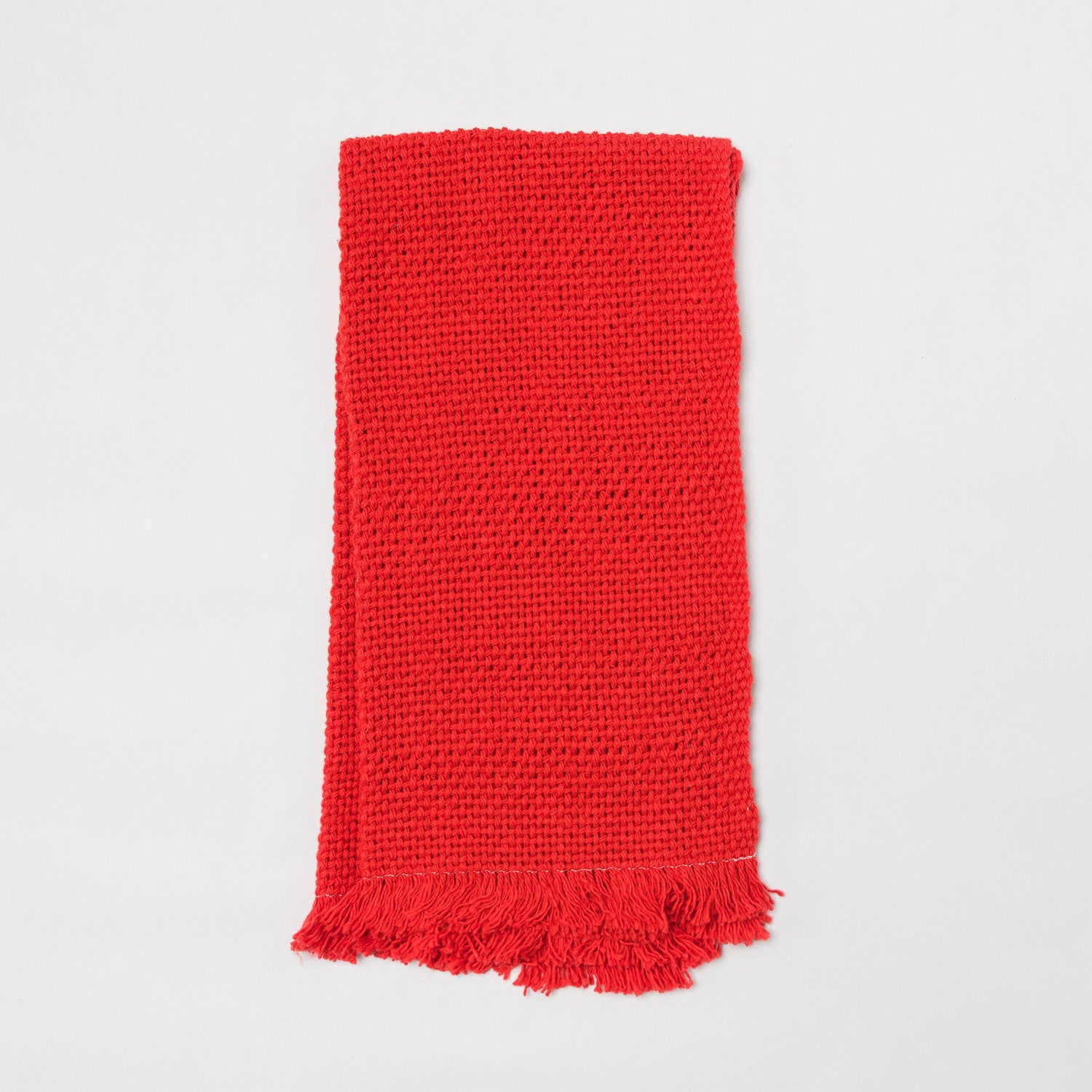 KD Weave Red Hand Towel, Set of 2