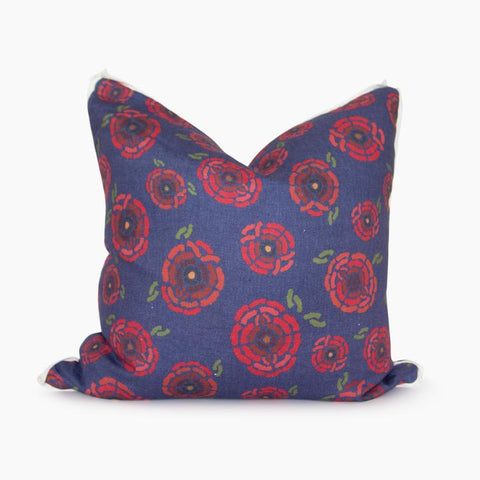 California Poppies Square Pillow