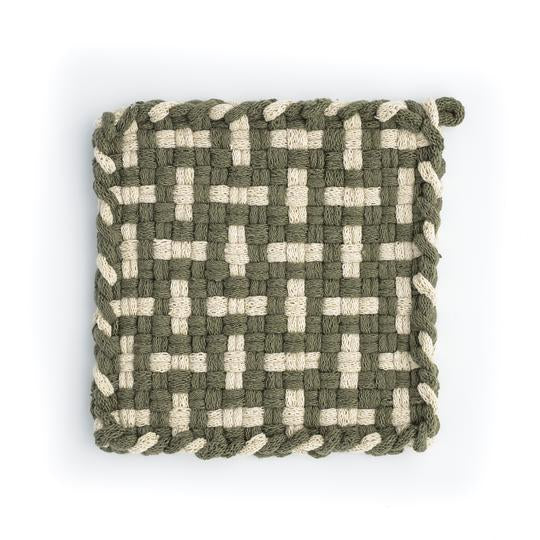 SEEDLING Willow & Flax Handwoven Potholder