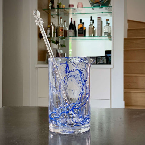The Strada in Blue Mixing Glass